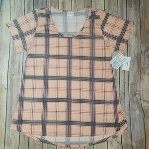 Lularoe XL Classic T peach and pink striped